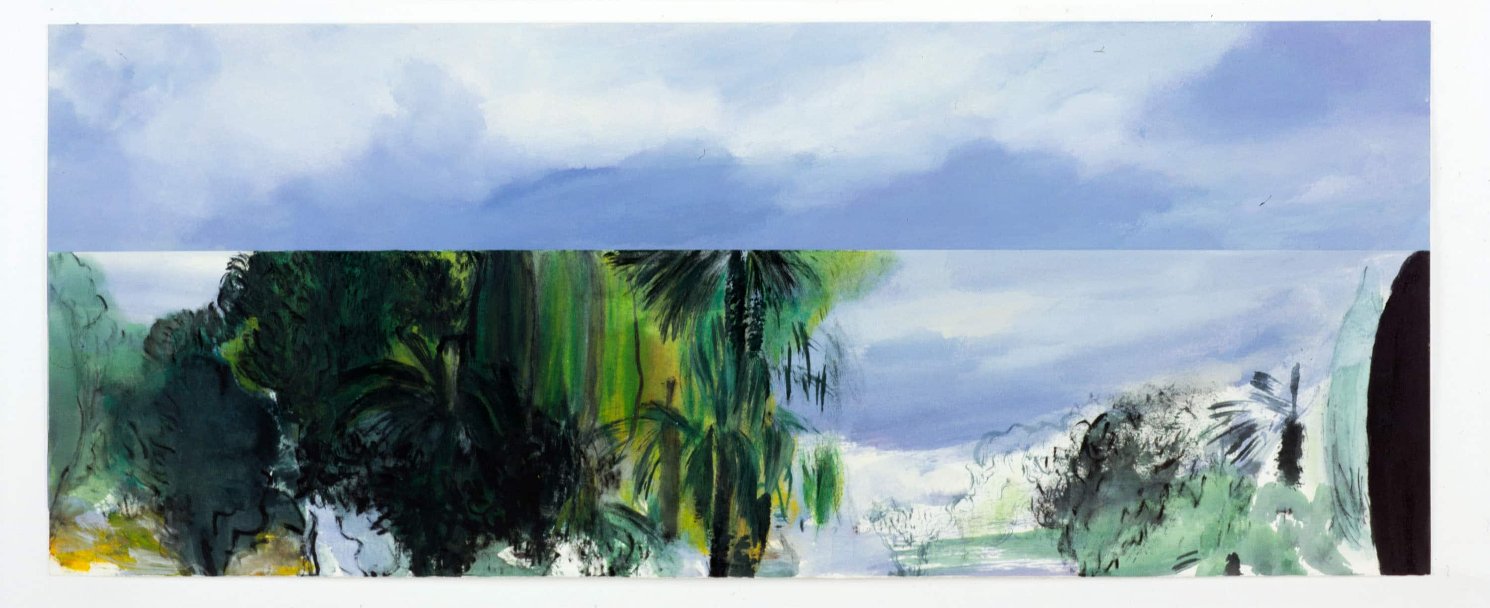 Oil on Paper 100X40cm